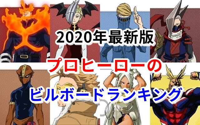 プロヒーローのビルボードランキング2020年最新版!